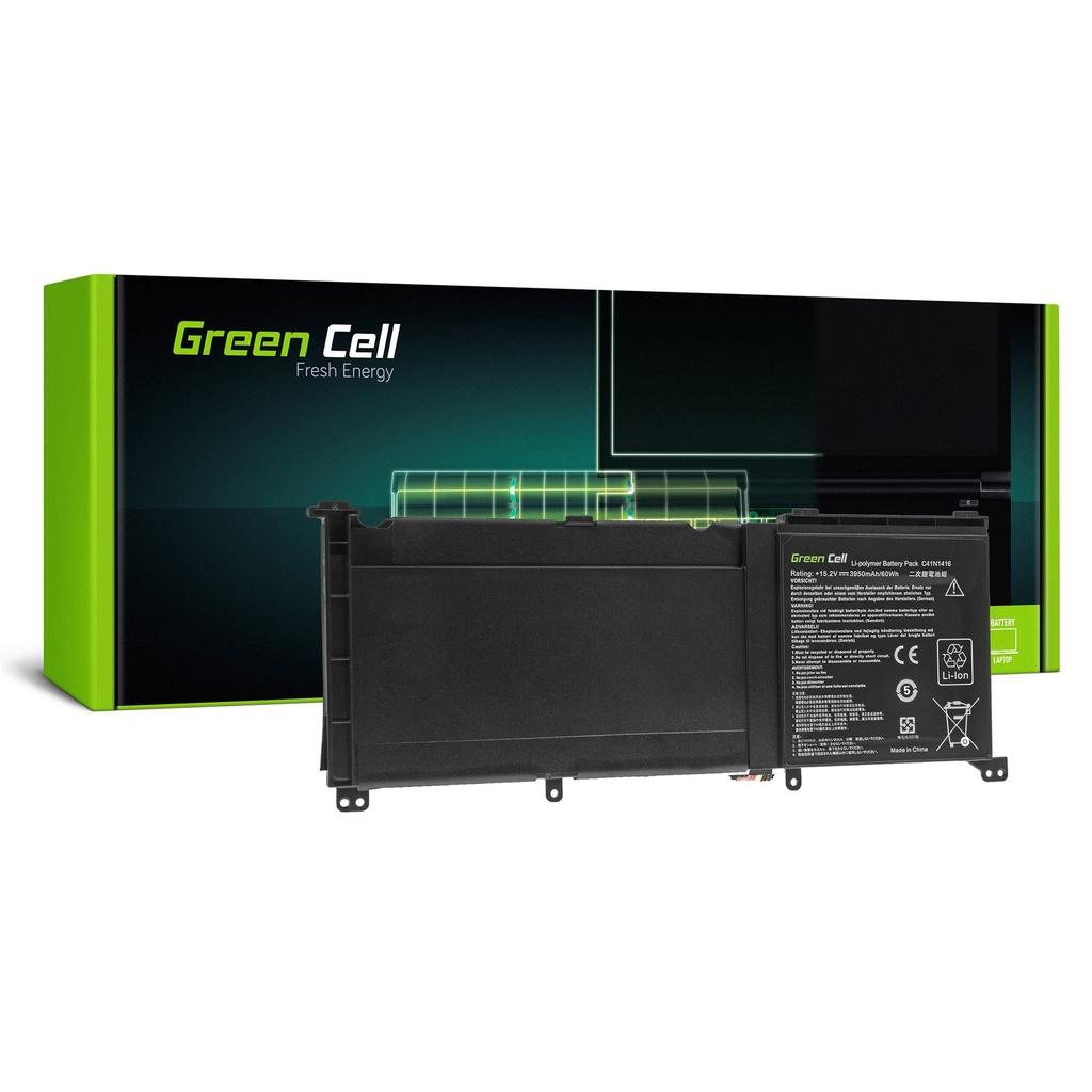 Green Cell C41N1416 Baterija za Asus G501J G501JW G501V G501VW Asus ZenBook Pro UX501 UX501J UX501JW UX501V UX501VW / 15,2V 3950