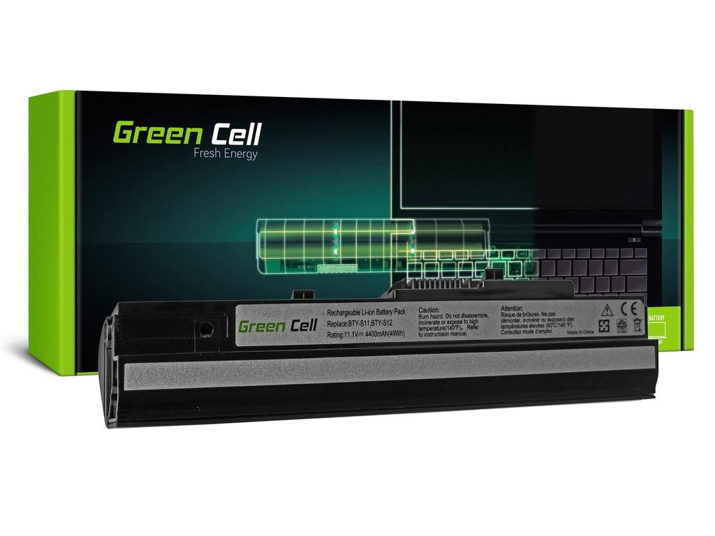 Green Cell baterija za MSI Wind U91 L2100 L2300 U210 U120 U115 U270 (črna) / 11,1V 4400mAh