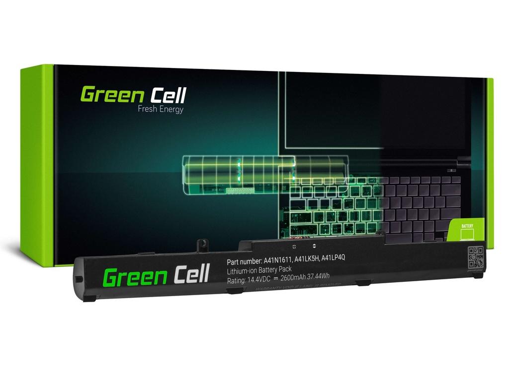 Baterija Green Cell A41N1611 za Asus GL553 GL553V GL553VD GL553VE GL553VW GL753 GL753V GL753VD GL753VE FX553V FX753 FX753V