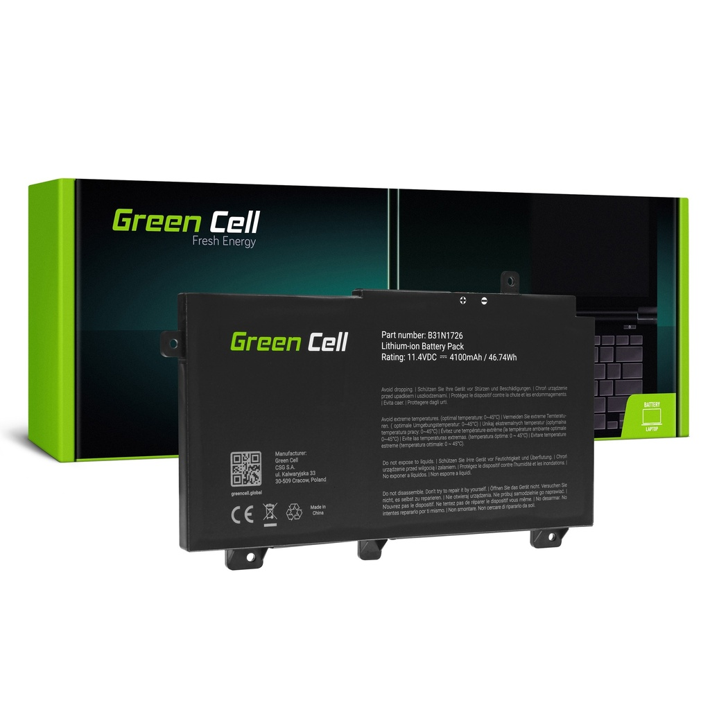 Baterija Green Cell B31N1726 za Asus TUF Gaming FX504 FX504G FX505 FX505D FX505G A15 FA506 A17 FA706