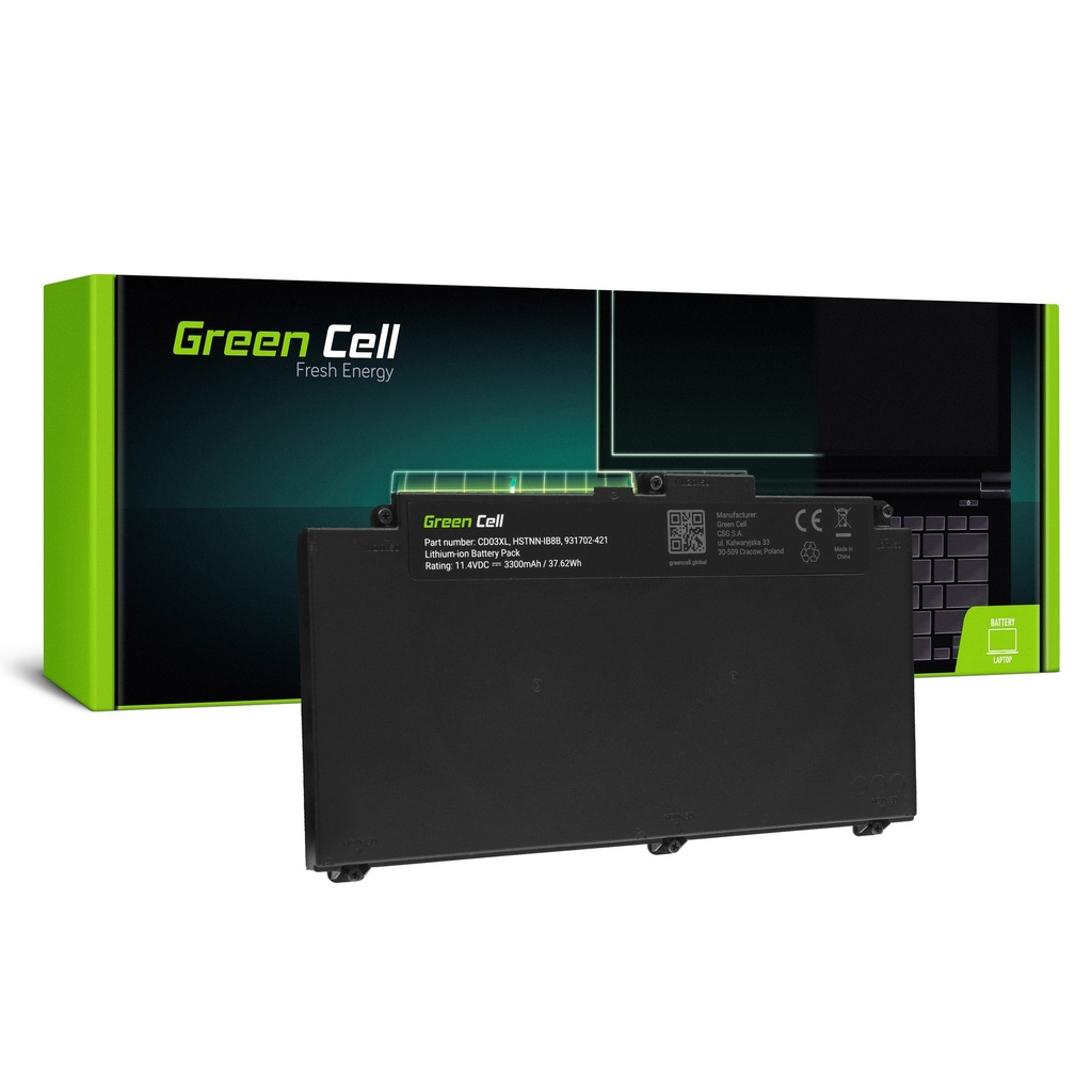 Baterija Green Cell CD03XL za HP ProBook 640 G4 G5 645 G4 650 G4 G5