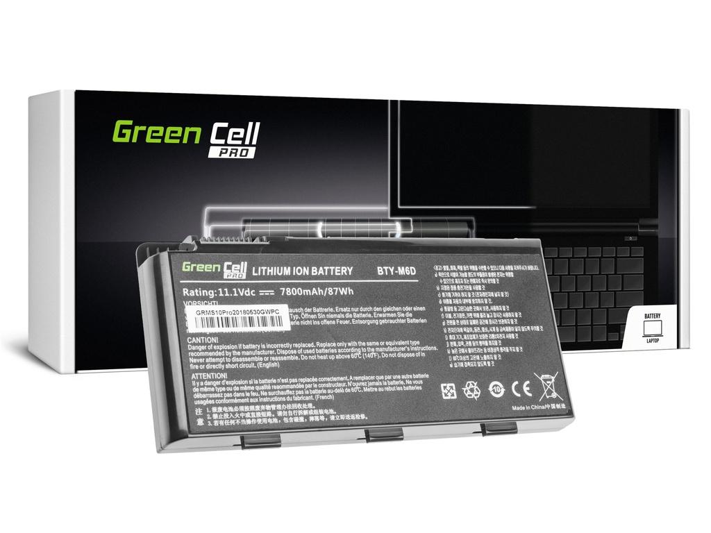 Green Cell PRO baterija za MSI GT60 GT70 GT660 GT680 GT683 GT780 GT783 GX660 GX680 GX780 / 11,1V 6600mAh