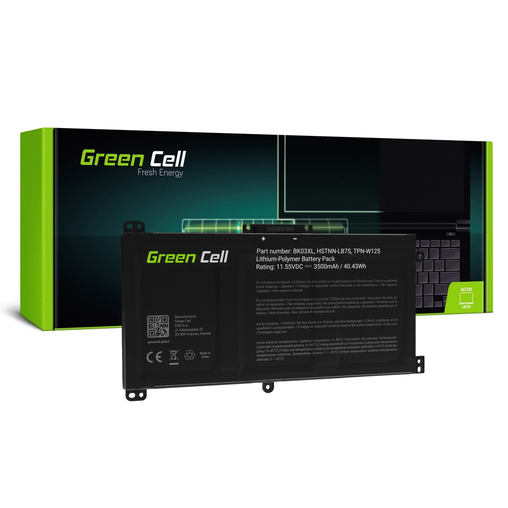 Baterija Green Cell BK03XL za HP Pavilion x360 14-BA 14-BA015NW 14-BA022NW 14-BA024NW 14-BA102NW 14-BA104NW