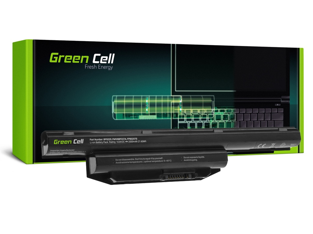 Baterija Green Cell za Fujitsu LifeBook A514 A544 A555 AH544 AH564 E547 E554 E733 E734 E743 E744 E746 E753 E754 S904