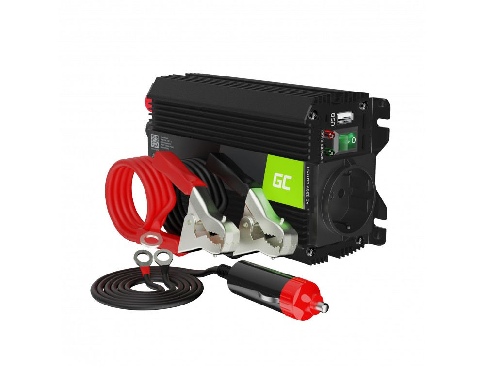 Green Cell® Car Power Inverter Converter 12V to 230V 300W/600W with USB
