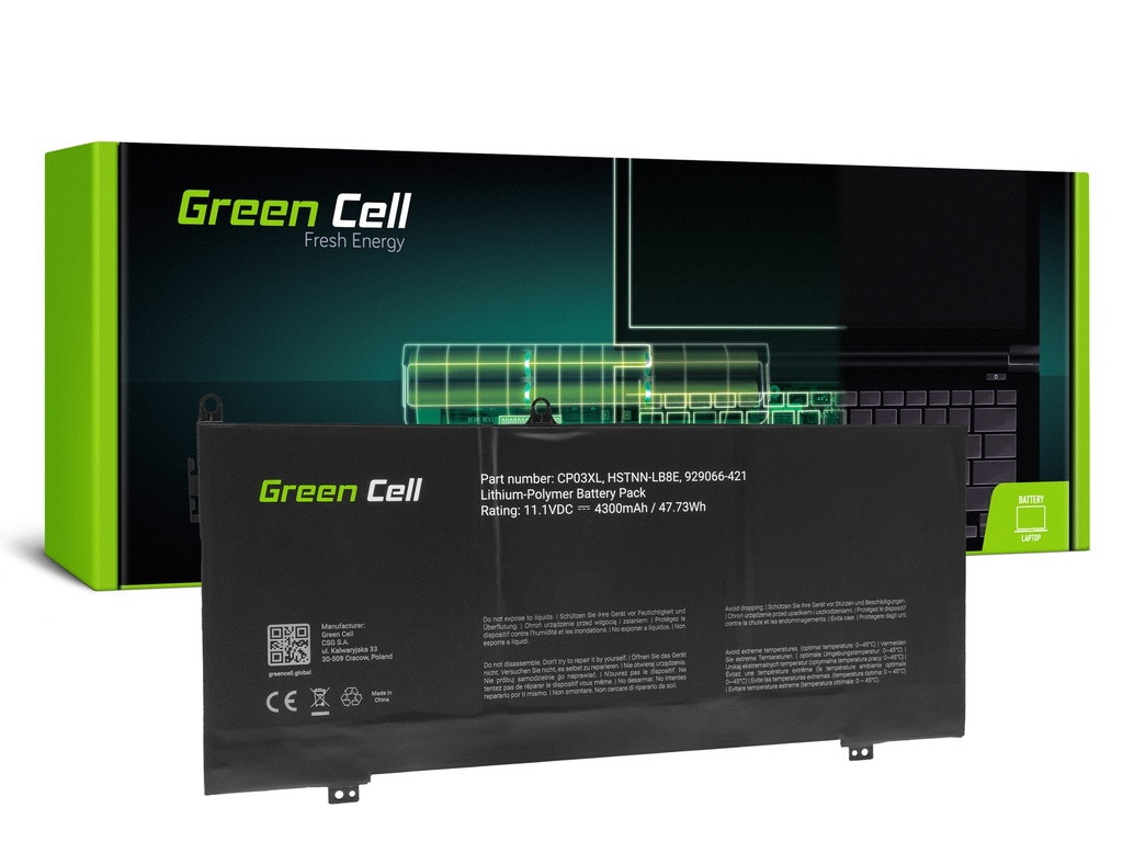 Baterija Green Cell CP03XL za HP Specter x360 13-AE 13-AE001NW 13-AE002NW 13-AE003NW