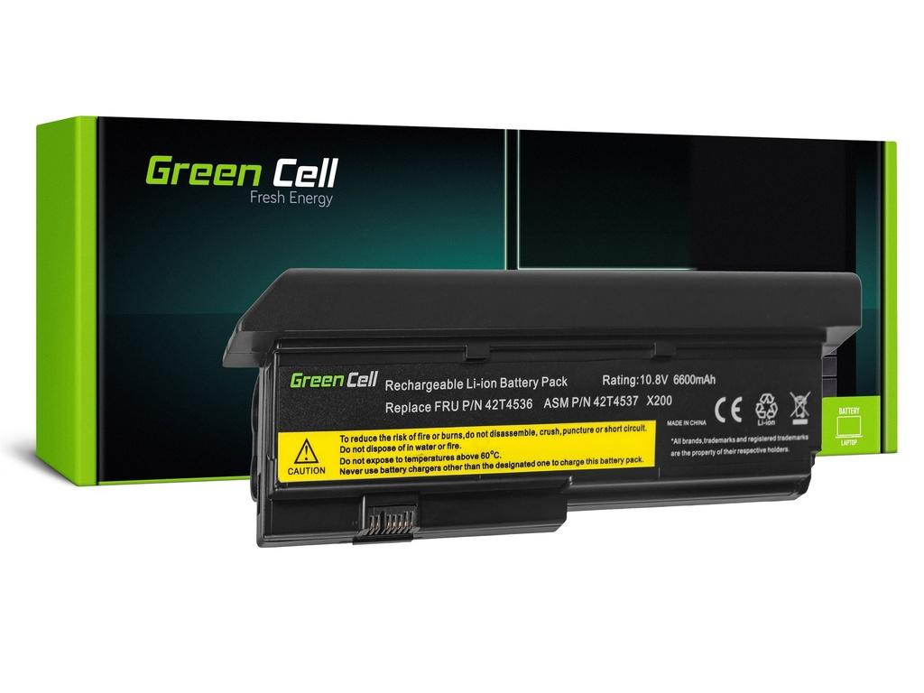 Baterija Green Cell za Lenovo ThinkPad X200 X201 X200s X201i / 11,1V 6600mAh