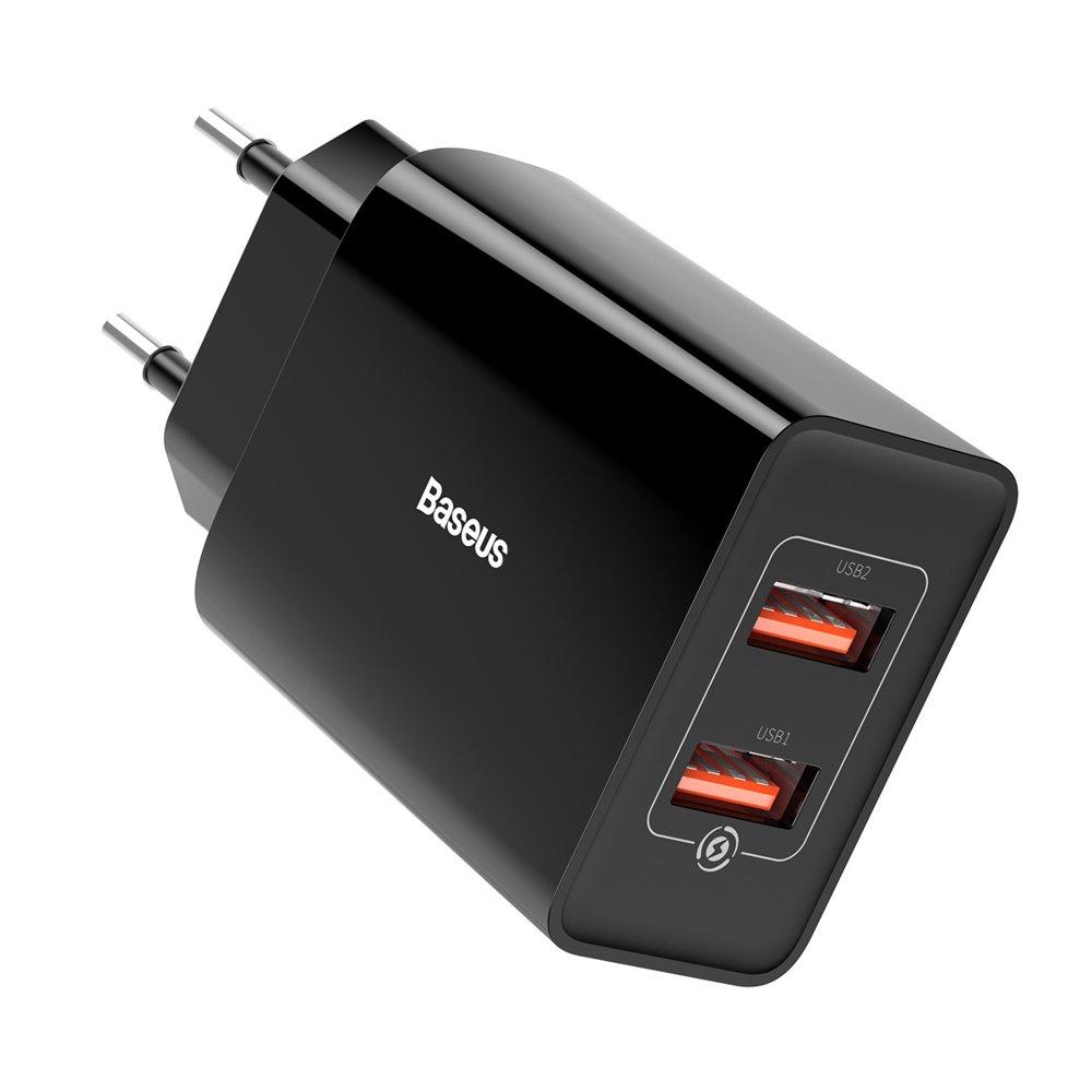Baseusov hitro polnilni stenski polnilnik 2x USB 18 W 3 A Quick Charge 3.0