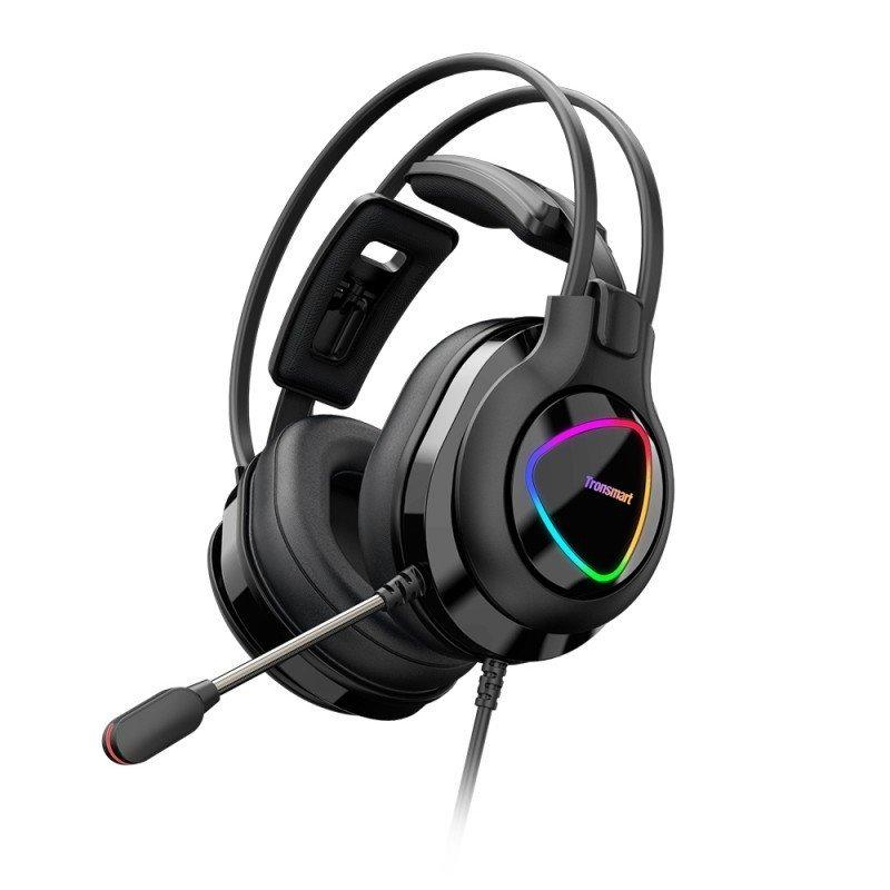 Tronsmart Glary Alpha Gaming RGB slušalke 3,5 mm mini jack z mikrofonom in linijskim nadzorom