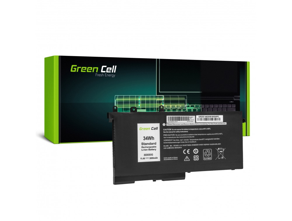 Baterija Green Cell 3DDDG 93FTF za Dell Latitude 5280 5290 5480 5490 5495 5580 5590