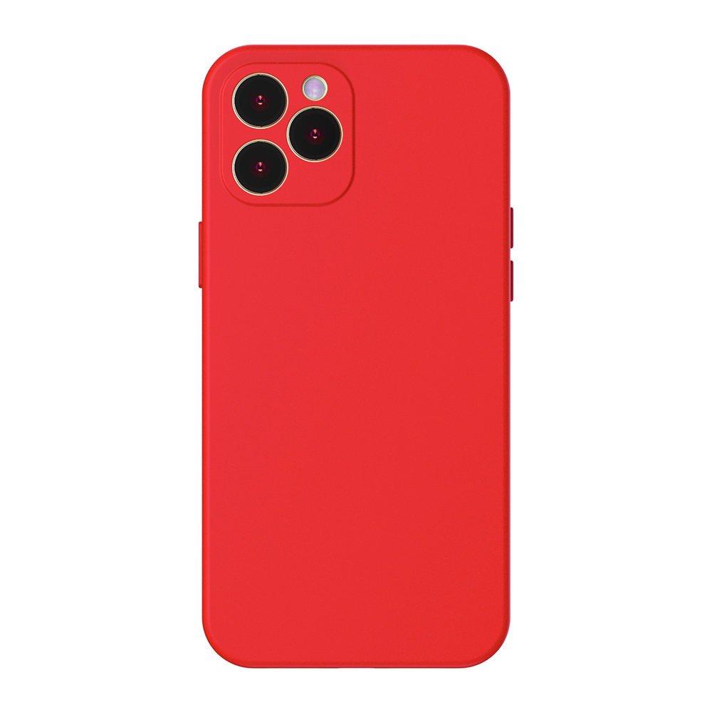 Baseus Liquid Silica Gel ovitek za iPhone 12 Pro rdeča