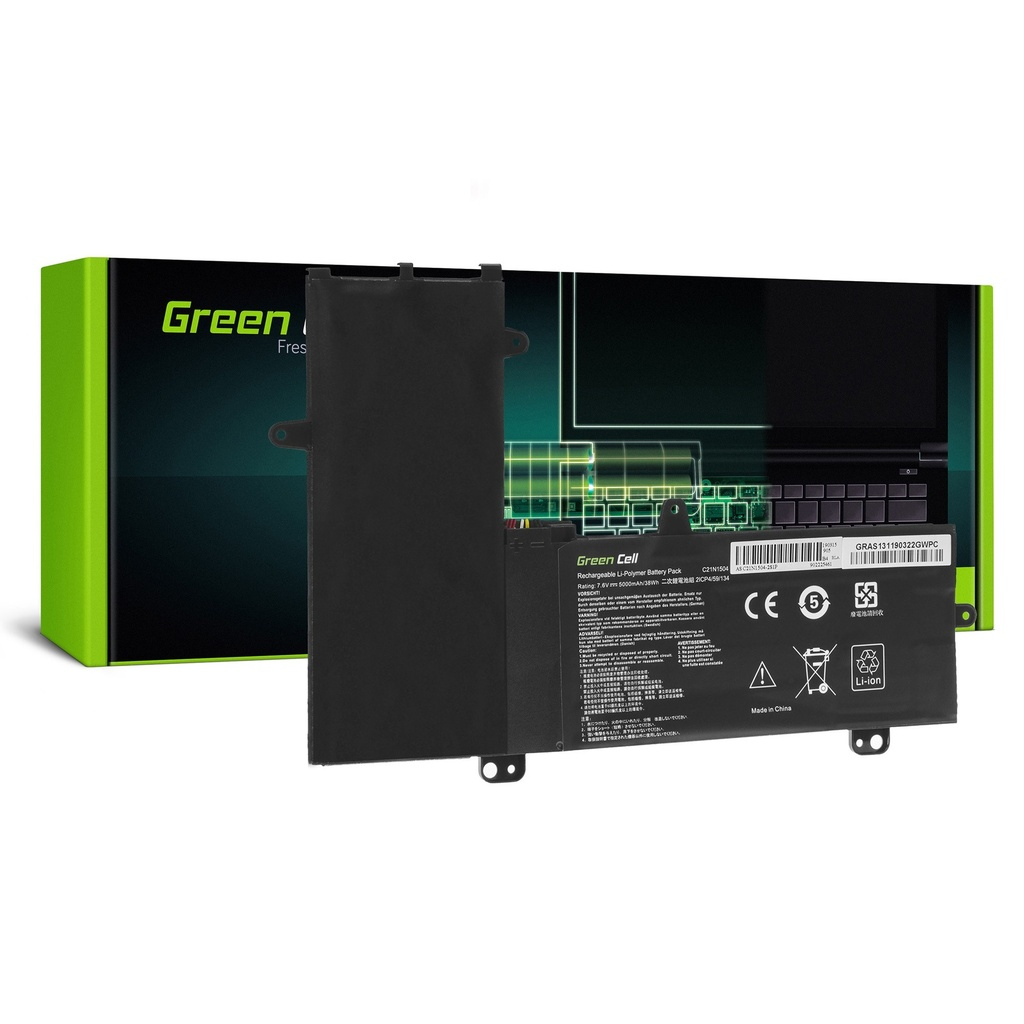 Baterija Green Cell C21N1504 za Asus Transformer Book Flip TP200S TP200SA / 7,6V 5000mAh
