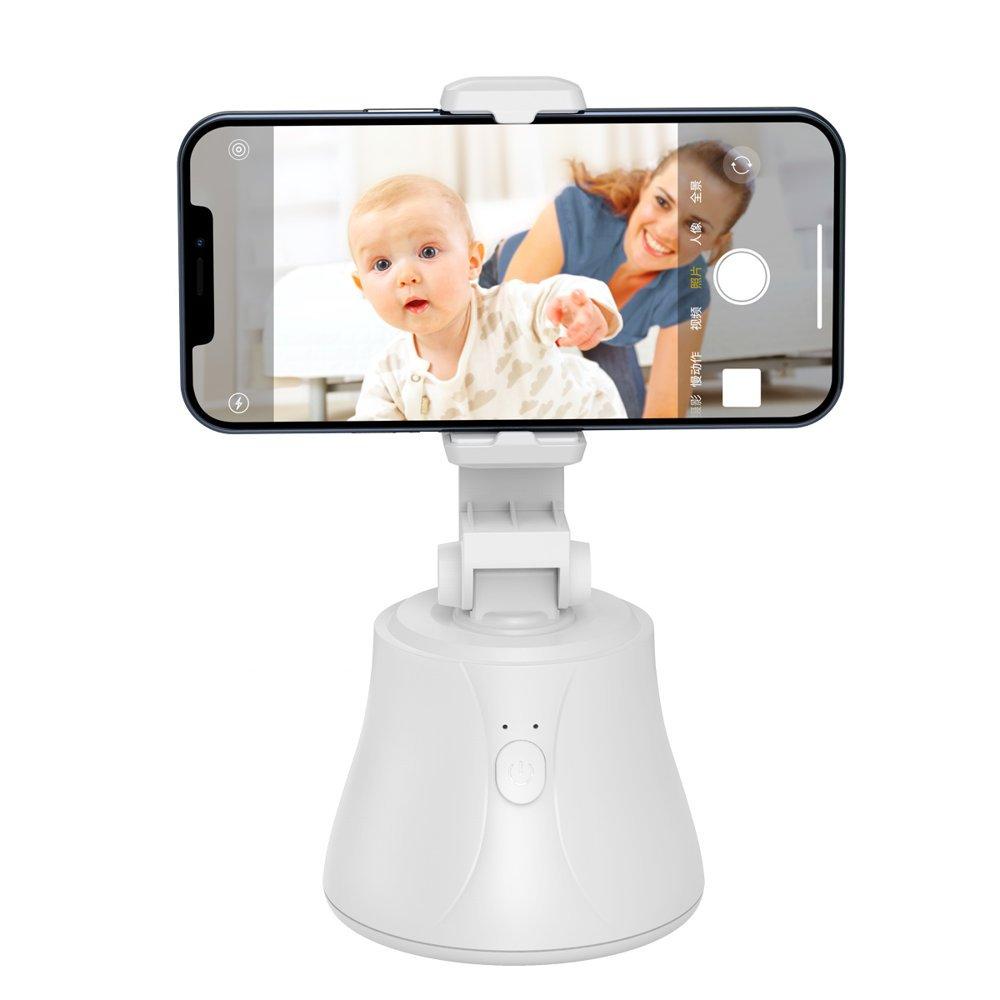 Prenosno držalo za telefon Baseus z osnovnim rotacijskim stojalom za 360 stopinj, stabilizatorjem za sledenje obrazov