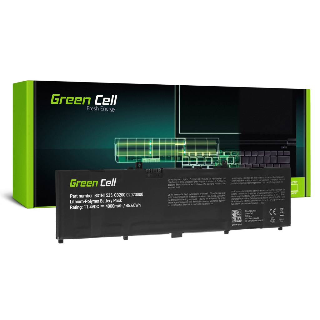 Baterija Green Cell B31N1535  za Asus ZenBook UX310 UX310U UX310UA UX310UQ UX410 UX410U UX410UA UX410UF UX410UQ UX3410 UX3410U