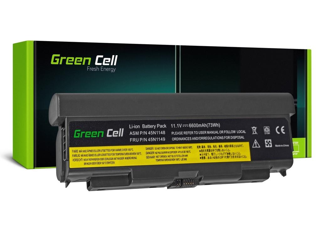 Green Cell Baterija za Lenovo ThinkPad T440P T540P W540 W541 L440 L540 (zadaj) / 11,1V 6600mAh
