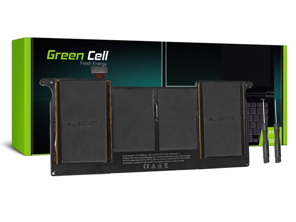 Green Cell baterija za Apple Macbook Air 11 A1370 A1465 (sredina 2011 - 2013, začetek 2014 - 2015) / 7,6V 5000mAh