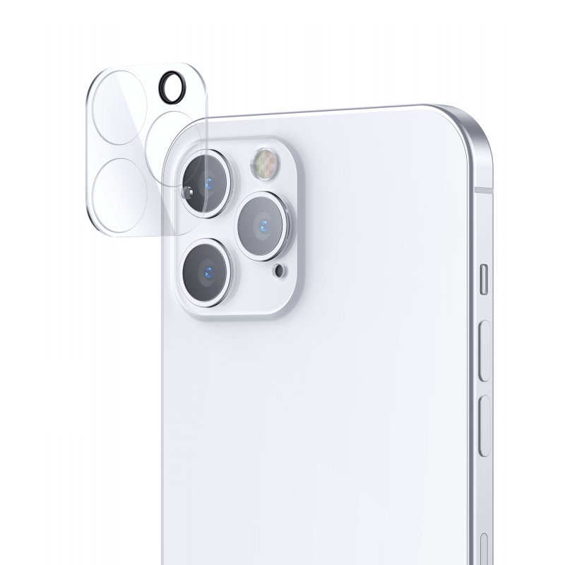 Joyroom Mirror Series polno zaščitna kamera, kaljeno steklo za iPhone 12 Pro, prozorno