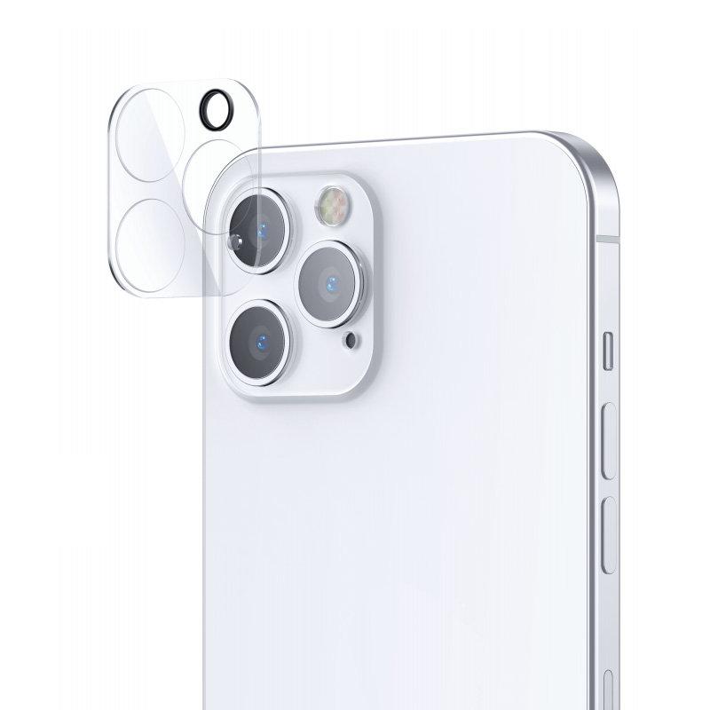Joyroom Mirror Series polno zaščitna kamera, kaljeno steklo za iPhone 12, prozorno