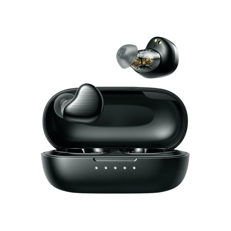 Joyroom Vodoodporne brezžične slušalke Bluetooth 5.0 TWS za v uho IPX5 črne barve
