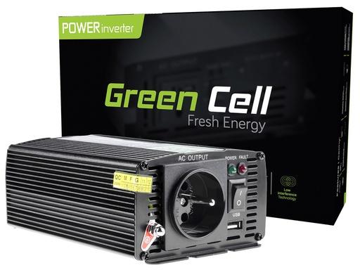 [GCL.INV02DE] Napetostni avtomobilski pretvornik Green Cell ® 24V do 230V, 300W / 600W