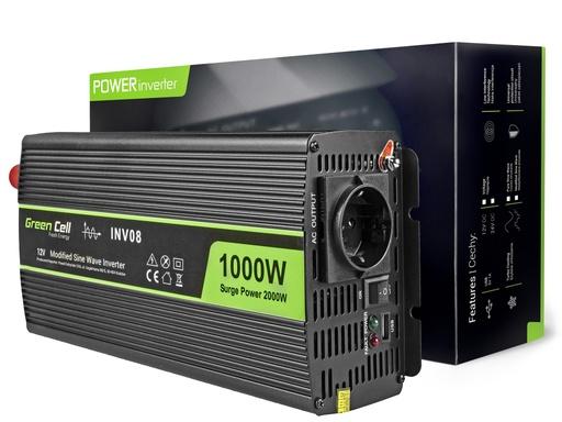 [GCL.INV08] Napetostni avtomobilski pretvornik Green Cell ® 12V do 220V, 1000W / 2000W
