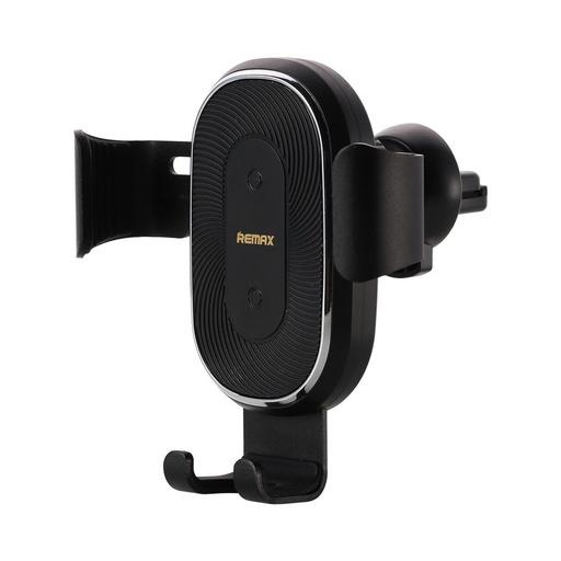 [HRT.52365] Remax brezžični polnilnik Gravity Car Mount držalo za telefon držalo za zračnike + polnilnik Qi 10W črna
