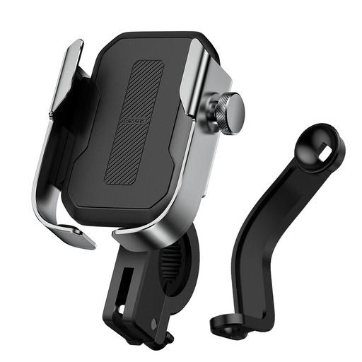 Baseus nastavljiv nosilec za kolo za telefon za krmilo in ogledalo srebrno (SUKJA-0S)
