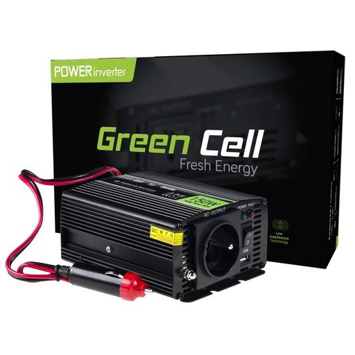 [GCL.INV06] Napetostni pretvornik Green Cell ® 12V do 230V, 150W / 300W