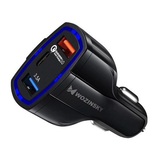 [HRT.53495] Wozinsky avtomobilski polnilnik 2x USB / USB Type C Quick Charge 3.0
