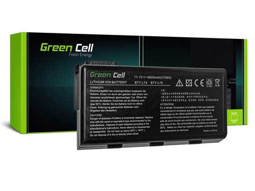 [GCL.MS02] Green Cell baterija za MSI A6000 CR500 CR600 CR700 CX500 CX600 / 11,1V 6600mAh