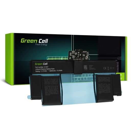 Baterija Green Cell A1437 za Apple MacBook Pro 13 A1425 (konec 2012, začetek 2013)
