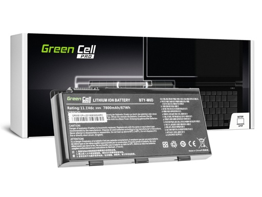 [GCL.MS10PRO] Green Cell PRO baterija za MSI GT60 GT70 GT660 GT680 GT683 GT780 GT783 GX660 GX680 GX780 / 11,1V 6600mAh