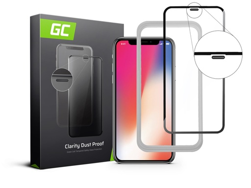 [GCL.GL01DP] Zaščita zaslona GC Clarity za zaščito pred prahom za Apple iPhone X / XS
