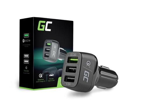 [GCL.CAD34] Green Cell avtomobilski polnilnik s 3xUSB in Quick Charge 3.0