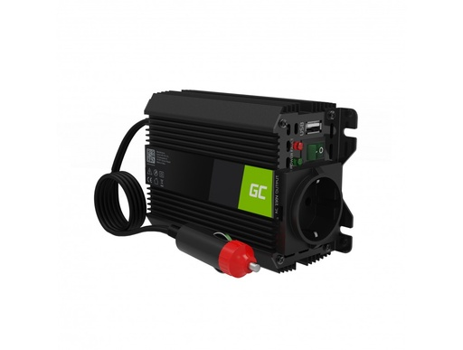 [GCL.INVGC06] Green Cell® Car Power Inverter Converter 12V to 230V Modificated sine 150W/300W with USB