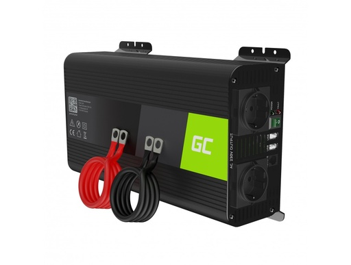 [GCL.INVGC09] Green Cell® Car Power Inverter Converter 12V to 230V Pure sine 1000W/2000W with USB