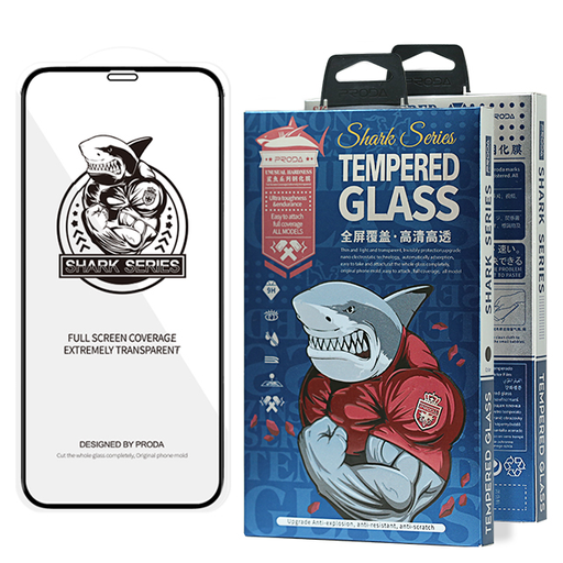 [HRT.63405] Proda Shark Full Glue steklo za iPhone 12 mini črna