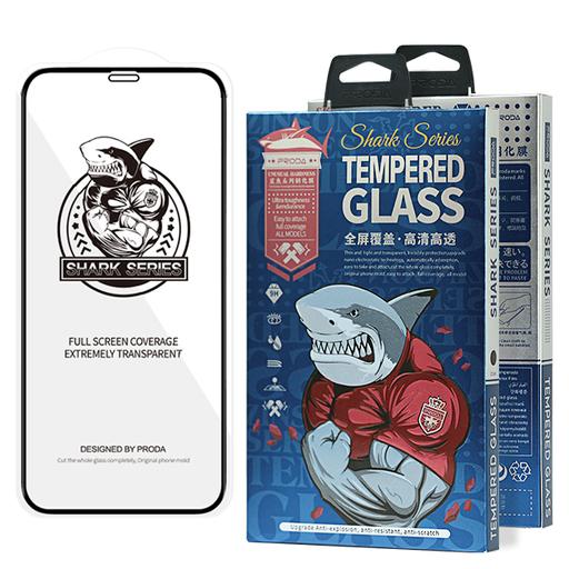 [HRT.63407] Proda Shark Full Glue Steklo za iPhone 12 Pro Max črna