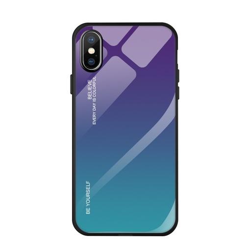 [HRT.55678] Gradient Glass Durable ovitek za  iPhone XS / iPhone X