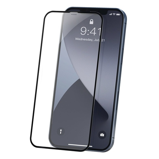 [HRT.64127] Baseus 2x Full screen 0,23 mm tempered glass with a frame iPhone 12 Pro / iPhone 12 Black (SGAPIPH61P-PE01)
