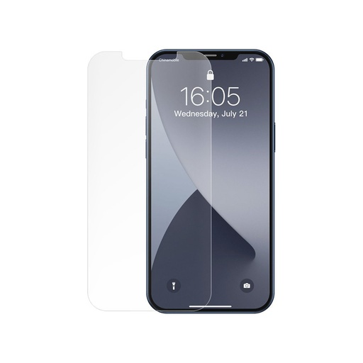 [HRT.64137] Baseus 2x 0,25 mm frosted tempered glass iPhone 12 Pro Max Transparent (SGAPIPH67N-LM02)