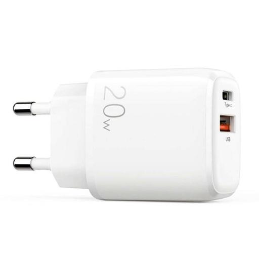 [HRT.71693] Joyroom hitri stenski polnilnik USB Type C / USB 20 W 3 A Power Delivery Quick Charge 3.0 white